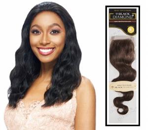 Black Diamond Human Hair 96 Top Closure 14 Inch