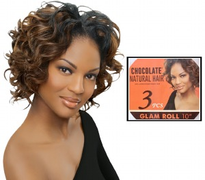 Chocolate Glam Roll 10-inch 3pc