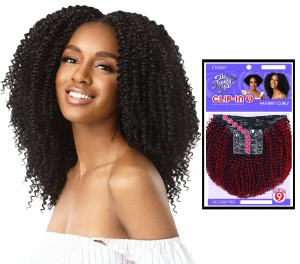 Outre Human Hair Clip-In 4A Kinky Curly 9pc