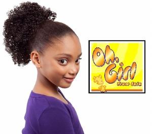 Oh Girl Kid's Afro Drawstring Ponytail