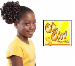 Oh Girl Kid's Curl Set Drawstring Ponytail