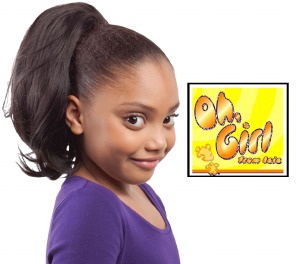 Oh Girl Kid's Yaky Train Drawstring Ponytail