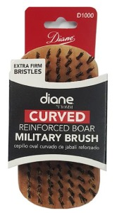 Diane Curved Reinforced Boar Military Brush