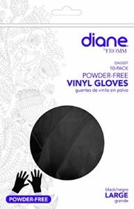 Diane Large Black Vinyl Gloves