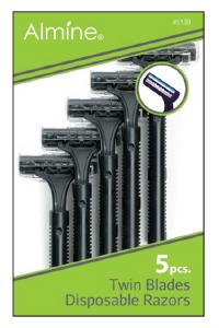 Twin Blade Disposable Razors #5139