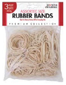 Donna Elastic Bands Assorted Size Tan #0276