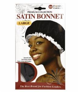 Donna Satin Bonnet Black #11008