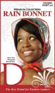 Donna Rain Bonnet Clear, Assorted Colors