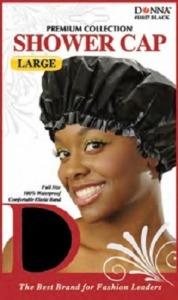 Donna Shower Cap Large, Black
