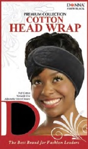 Donna Cotton Head Wrap, Black