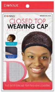 Donna Closed Top Weaving Cap, Black