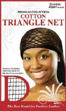Donna Cotton Triangle Net, Black