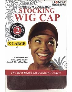 Donna X-Large Stocking Wig Cap Brown
