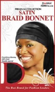 Donna Satin Braid Bonnet, Black