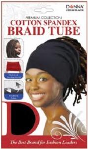 Donna Cotton Spandex Braid Tube, Black
