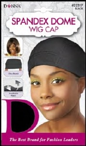 Donna Spandex Dome Wig Cap, Black