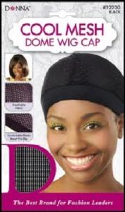 Donna Cool Mesh Dome Wig Cap, Black