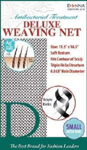 Donna Deluxe Antibacterial Weaving Net Small Hole, Black