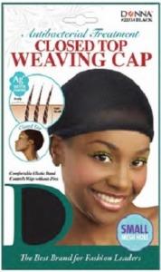 Donna Antibacterial Closed Top Weaving Cap, Black