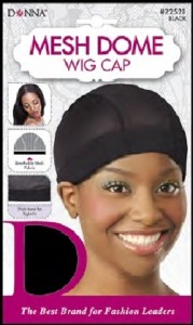 Donna Mesh Dome Wig Cap, Black