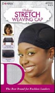 Donna Deluxe Strech Weaving Cap, Black