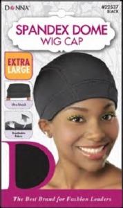 Donna Spandex Dome Wig Cap X-Large, Black