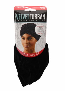 Donna Velvet Turban Black #33008