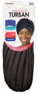 Donna Spandex Turban, Black