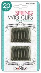 Donna Spring Wig Clips 20pc #7082