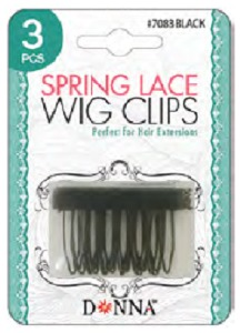 Donna Spring Wig Clips 3pc #7083