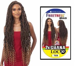 FreeTress Braid 2x Ghana Loc 30 Inch