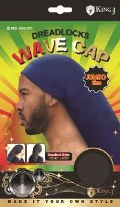 King J Dreadlocks Jumbo Wave Cap Assorted Colors #085
