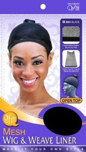 QFitt Open Top Mesh Wig & Weave Liner Black #503