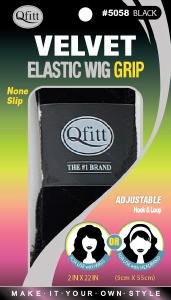 QFitt Velvet Elastic Wig Grip Black #5058