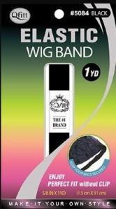 QFitt Elastic Wig Band Black #5084