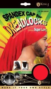 King J Spandex Dreadlocks Cap Super Long Assorted Colors #705