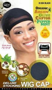 QFitt Deluxe Stocking Wig Cap Black #804