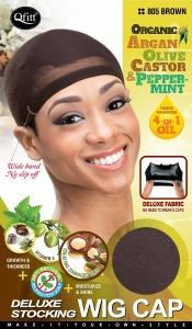 QFitt Deluxe Stocking Wig Cap Brown #805