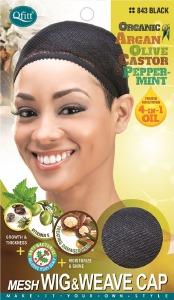 QFitt Mesh Wig & Weave Cap Closed Top Black #843
