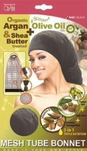 QFitt Mesh Tube Bonnet Black #8481