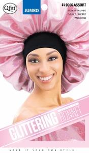 QFitt Jumbo Premium Glittering Bonnet Assorted #9006
