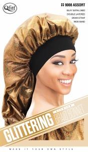 QFitt Glittering Braid Bonnet Assorted Colors #9008