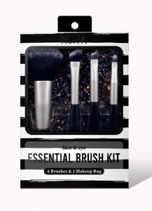 Nicka K Essentail Brush Kit Travel Size Black
