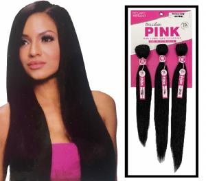 Soprano Brazilian Pink Virgin Remy Bundle Pack Yaki Straight
