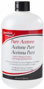 Super Nail Pure Acetone 16oz