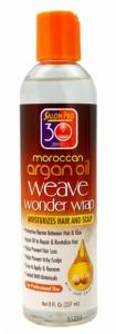 Salon Pro 30 Second Moroccan Argan Oil Weave Wonder Wrap 8oz Clear