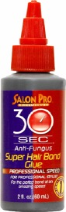 Salon Pro 30 Second Super Hair Bonding Glue 2oz Black