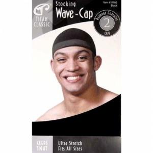 Titan Stocking Wave Cap Black #11106