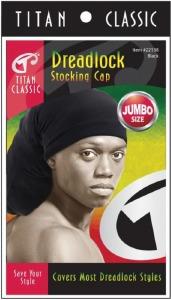Titan Dreadlock Stocking Cap Black #22138
