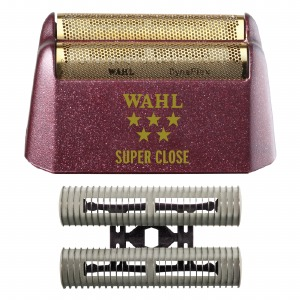 WAHL 5 Star Shaver Replacement Foil and Blade - Red Super Close Gold Foil with Blade #7031-100